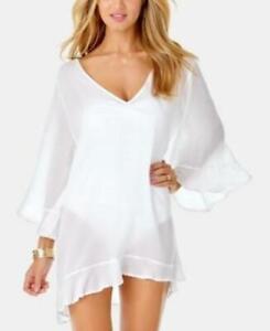 Anne Cole Women's Tunic Swim Cover Up Dress, White, Size M, $68, *Defect