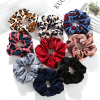 Leopard Cloth Scrunchies Hair Ring Hair tie Ponytail Holder Rubber Hair Band NEW