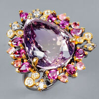 Ametrine Ring Silver 925 Sterling Handmade23ct+ Size 8.5 /R131034
