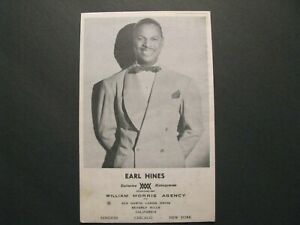 *RARE c.1940s EARL HINES COLUMBIA RECORDS / BLUEBIRD BIG BAND JAZZ PROMO CARD*