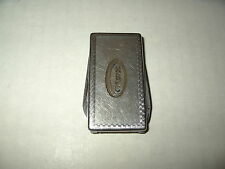 Vintage Silvertone Advertising N B of C Money Clip Pocket Knife