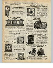 1937 PAPER AD Westclox Table Revolving World Globe Watch Novelty