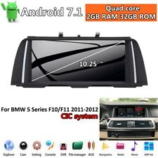"""10.25"""" Android 7.1 Car Radio Player GPS For BMW 5 F10 F11 2011-2012 CIC System"""