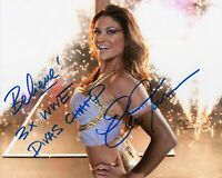 EVE TORRES SIGNED WWE AMERICAN WRESTLING PHOTO WITH COA & PROOF