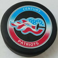 CENTURY PATRIOTS OFFICIAL GAME PUCK MADE IN CANADA LINDSAY MFG.