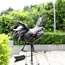 3D Rooster Steel Metal Weathervane Handcraft For Garden Barn Outdoor Decoration
