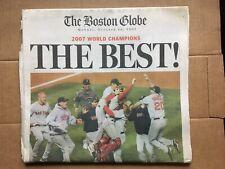 BOSTON RED SOX 2007 BOSTON GLOBE 'THE BEST' WORLD SERIES RARE MLB FREE SHIPPING!