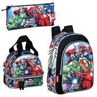 Avengers Backpack Rucksack Travel School Lunch Bag Pencil Case Boys Marvel