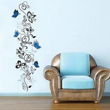 Blue Butterfly Vine Pattern Wall Sticker Decals Mural DIY Art Vinyl Home Decor