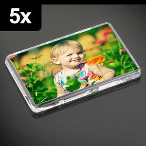 5x Premium Quality Clear Acrylic Blank Fridge Magnets 70 x 45 mm | Large Photo