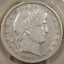 1905-O Barber Half Dollar 50c PCGS Certified VF30 Some Original Luster Remains