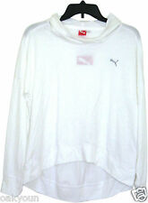 PUMA Sport Life Style Hooded Layering Tee. White, Size(M)