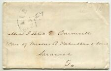 FAIRFAX CH VA AUG 21 1861 Pd 10 on cover to Miss Isabell E Barnwell Savannah Ga