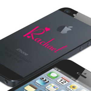 Personalised Name Phone iPhone 5 6 iPod HTC Name Sticker Decal