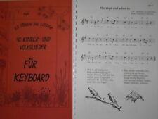 Noten - 40 Kinderlieder für Keyboard