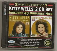 "KITTY WELLS, 2 CD SET, ""40 GREATEST HITS"" NEW SEALED"