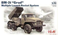 ICM 1/72 BM-21 Grad Multiple Launch Rocket System # 72714