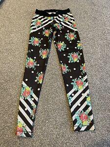 Nike Floral Leggings Dri Fit Medium M