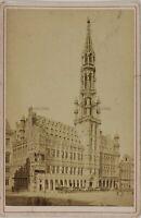 Bruxelles Hotel De Ville Belgium Foto P15Ln40 Vintage Albumina