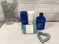 New Ted Baker Gift Set 4 items Body Spray Deodorant Body Wash Cleansing Bar