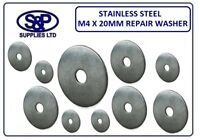 M4 (4MM) X 20MM A2 STAINLESS STEEL REPAIR WASHER PENNY WASHERS 20MM OUTSIDE DIA