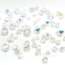 72 pcs Mixed Sizes Swarovski 5328 XILION Bicone Beads CRYSTAL AB (001 AB)