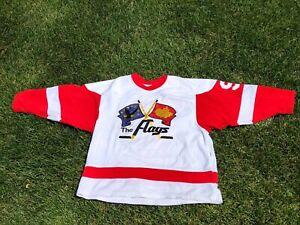 Vintage IHL Port Huron Flags Style Hockey Jersey.