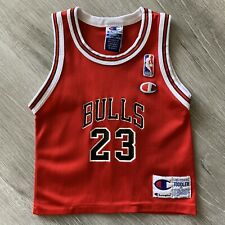 Michael Jordan Toddler 3T Champion Chicago Bulls Jersey Rare Last Dance