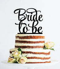 Bride to Be Cake Topper, Bridal Shower, Engagement Party Decoration, USA