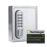 masunt Schlüsselsafe 1120 E Code – V2A Edelstahl Schlüsseltresor für Außen
