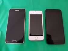 3x mobile cell phones - Apple iPhone Samsung Galaxy  LG Nexus - un-tested