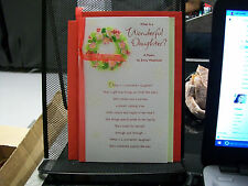 WHAT IS A WONDERFUL DAUGHTER? CHRISTMAS CARD AMERICAN GREETING POEM RED RIBBON