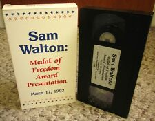 SAM WALTON live Medal of Freedom presentation Wal-Mart 1992 George Bush VHS