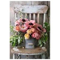 "100% Round Drill 5D DIY Diamond Painting ""Flower Chair"" Diamond Embroidery  K6K7"
