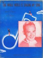 The Whole World Is Singing My Song, Jimmy Dorsey Photo 1946, vintage sheet music