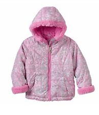 Zeroxposur Sherpa-Lined Leopard Transitional Jacket Toddler Girl Clothes Size 4t