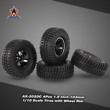 4Pcs AUSTAR AX-3020C 1.9 Inch 103mm 1/10 Scale RC Tires with  Wheel Rim O5Z3