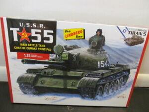 Linderg USSR T55 Main Battle Tank Plastic Model Kit, 1:35 Scale