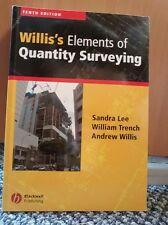 Willis's Elements of Quantity Surveying (Paperback), Lee, Sandra,. 9781118499207