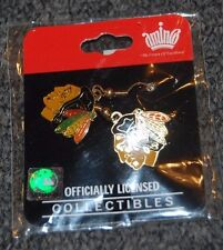 "Chicago Blackhawks ""Indian Head"" Dangle Earrings Officially Licenced New"