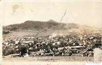 Vintage 1927 RPPC Postcard Cottage Grove Oregon hillside photo real town nature
