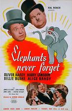 ELEPHANTS NEVER FORGET 1939 Oliver Hardy, Harry Langdon, Billie Burke TRADE AD