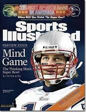February 7, 2005 Tom Brady New England Patriots Sports Illustrated NO LABEL
