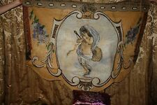 3 of 5 ANTIQUE FRENCH OIL PAINTING CANVAS ANGEL PUTTI CUPID from FRENCH CAROUSEL