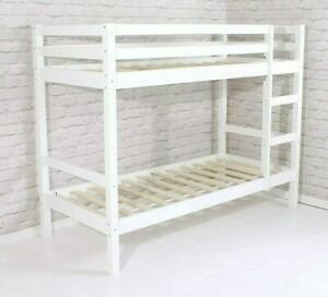 """Shorty Bunk Bed New White Pine Wooden 2ft 6"""""""