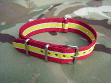 British Army Royal Lancers Stable Belt/TRF Colours G10 NATO Military Watch Strap