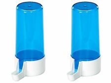 X2 Pet Ting 200cc Blue Drinker Feeder Anti Algae Finch Canary Budgie Etc