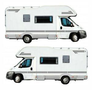 14 Metres Of Dark Grey Stripes For Motorhome Caravan Campervan Decal Graphics S2