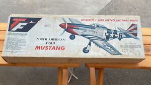 "Top Flite P-51D Mustang Airplane UNBUILT In Box 37"" Wingspan Balsa Wood Model"