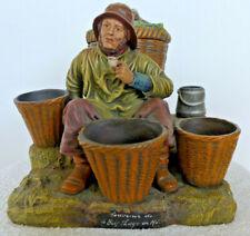 ancien Pot à tabac pêcheur terre cuite l'Isle Adam Souvenir du Bois Plage en Ré